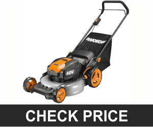 WORX WG751 40V Power Share 5.0 Ah 20″ Lawn Mower